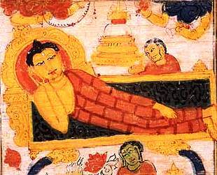 A painting depicting the death of Lord Buddha. (Courtesy: Asia Society Museum).