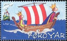 Stamps for Children - A Faroe Islands stamp of a sailboat.