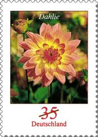 Flower Stamps - A german stamp with the picture of a dahlia flower.