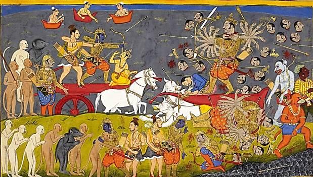 Ramayana Summary – Death of Ravana at the hands of Rama.