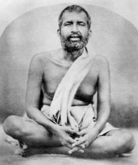 A picture of Sri Ramakrishna seated in Samadhi.