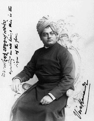 Swami Vivekananda in Chicago at the time of his historic debut at the World's Parliament of Religions in 1893.