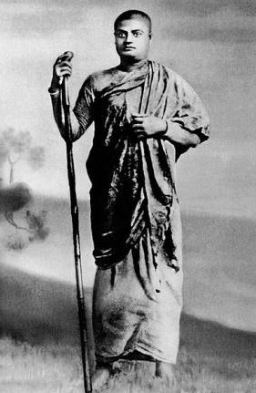 Swami Vivekananda in his days as a wandering monk, when he walked the length and breadth of India, from the Himalayas to Kanyakumari.